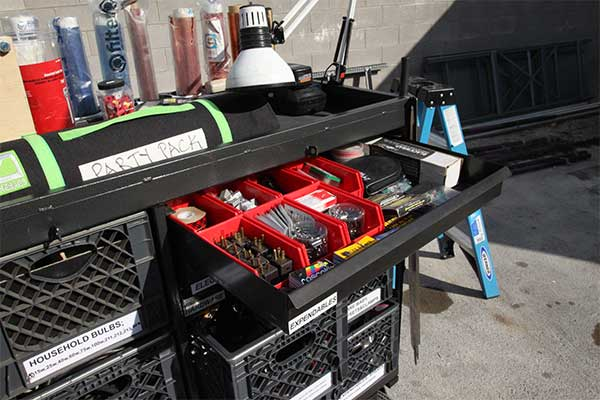 Production Set Cart Drawer