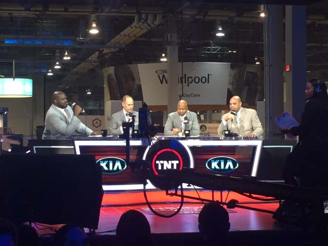 We were asked to light a TNT Sports Show for CES